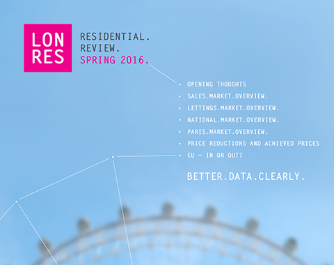 LonRes Residential Review Spring 2016 Q1 data on London's residential property sales and lettings market